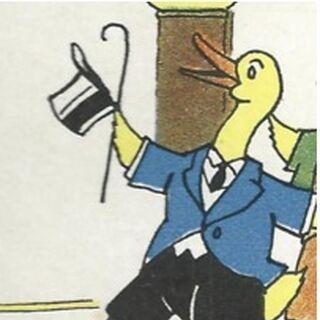 D'autres personnages présentant des caractéristiques similaires font ensuite de la figuration à divers moments de la BD, comme ces deux canards extraits de la page 25…
