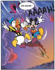 Daisy Mickey et Donald plongent