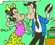 Horace Horsecollar et Clarabelle Cow par Carl Barks