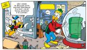 Donald se rend chez Géo pour avoir des lettres lacrymogènes