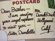Lettre de Della Duck