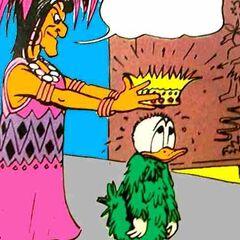 Donald s'apprêtant à porter la couronne hondoricaise.
