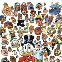Illustration de Carl Barks où l'on retrouve les robots de cette histoire.