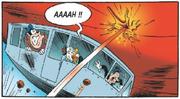L'éruption touche le dirigeable de Gripsou