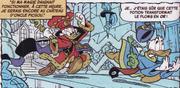 Le roi Picsou chassant Donald