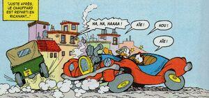 Picsou accident voiture