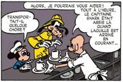 Ferdinand le barman renseigne Mickey et Dingo