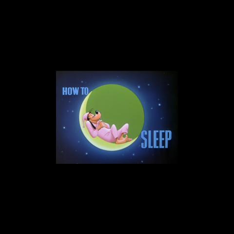 Le <i>title card</i> de <i>How to Sleep</i>.