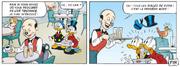 Serveur annonce aux canards la tendance des bulles de soda