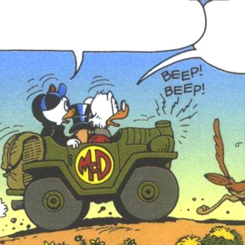 La présence de Bip Bip, personnage issus de la série de cartoons américains <i>Bip Bip et Coyote</i>.