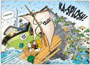 Donald heurte un bateau de pêche
