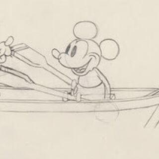 Crayonné de Mickey et Pluto.