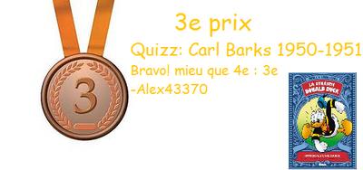 Médaille bronze 1950-1951