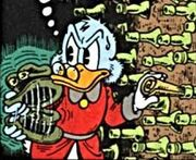 Balthazar Picsou cachant ses actions Le Canard le plus riche du monde
