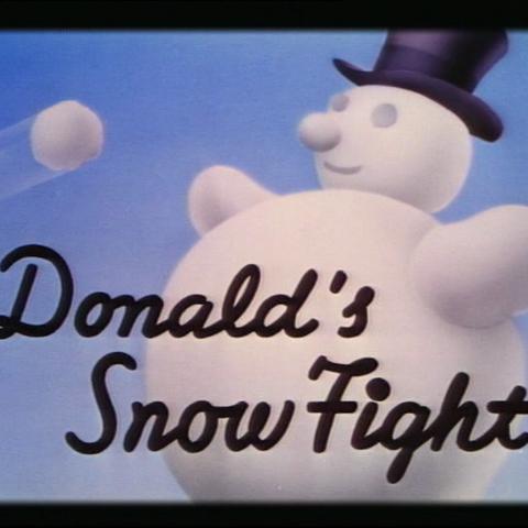 Le <i>title card</i> de <i>Donald's Snow Fight</i>.