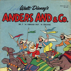 Couverture du magazine danois <i>Anders And & Co.</i> n°1967-07 illustrant cette histoire.