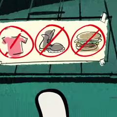 Dingo remarque à Mickey et Donald qu'il faut lire les règles!
