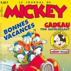 Couverture du <i>Journal de Mickey</i> n°2351, illustrant les grandes vacances.