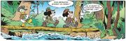 Traversée de la jungle pour Donald Mickey et Minnie