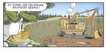 Pelleteuse - bulldozer géante et Donald Duck La Guerre des Windigos