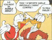 Picsou et Donald dans La Lettre du père Noël