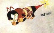 Une abeille dans un court métrage de Donald Duck