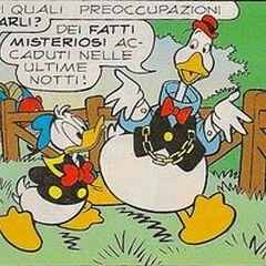 Gus avec Donald, dessinés en 2001 par <a href=