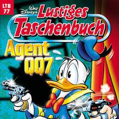 Couverture du magazine Allemand Lustiges Taschenbuch (Neuauflagen mit neuen Titeln und Titelbildern ab 1997) n° 77 publié en 1998.