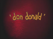 Title card Don Donald