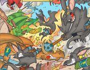 Orques-chauves-souris contre dragons