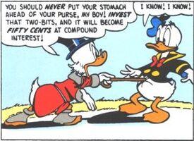 Oncle Picsou tente de ramener Donald à la raison