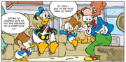 Retrouvailles ferroviaires entre Donald, Baptiste, Riri, Fifi et Loulou