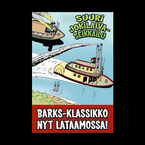 Couverture de la revue finlandaise <i>Aku Ankka Lataamo</i> n°2015-29, reprenant une case de l'histoire de Barks.