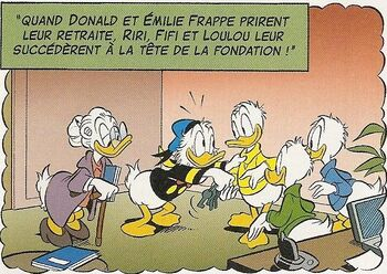 Donald, Miss Frappe et neveux futur