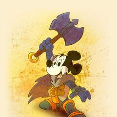 Mickey, magicien guerrier.