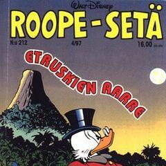Illustration publiée dans le magazine finlandais <i>The Adventures of Uncle Scrooge McDuck in Color</i> n<sup class=