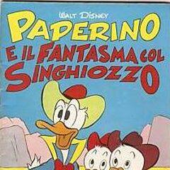 Couverture de la revue italienne <i>Albi della rosa / Albi di Topolino</i> n°285 illustrant l'histoire et dessinée par Ambrogio Vergani.
