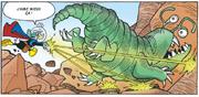 Fantomiald repousse un monstre martien