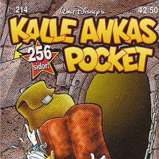 Couverture dessinée par un auteur resté malheureusement anonyme pour illustrer la parution de cette histoire en Suède dans <i>Kalles Ankas Pocket</i> n°214 en 1997.