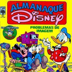 Couverture de la revue brésilienne <i>Almanaque Disney</i> n°162 de novembre 1984 illustrant ce récit.