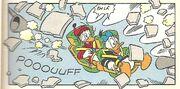 Autodestruction de la fusée de Donald et Popop