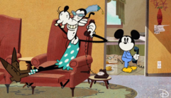 Mickey prend Dingo la main dans le sac