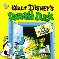 Couverture du deuxième volume de la <i>Carl Barks Library</i> reprenant le dessin de Barks pour la couverture de <i>Four Color Comics</i> n°282.