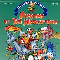 Couverture italienne de 1992 pour l'histoire.