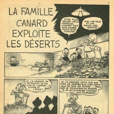Première page de l'histoire telle qu'elle est paru dans <i>Les Belles Histoires Walt Disney</i> (nouvelle série) n°57.