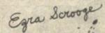 Picsou McPicsou (créancier de Grand-mère Donald) Signature