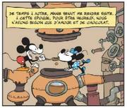 Mickey et Minnie vivent d'amour et de chocolat