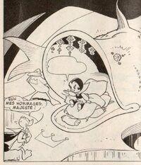 Bulle vide Donald au royaume des extra-marins!