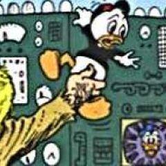 Donald apparaissant sur un écran.