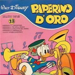 Couverture de la revue italienne <i>Paperino d'oro</i> n°13 illustrant l'histoire.